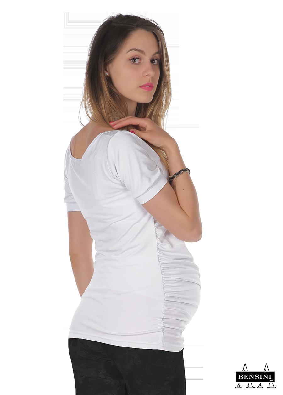 130008313c77 Bensini tehotenské tričko SONIA biele empty