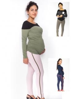 Moromu tehotenské úpletové nohavice s pásom na boku empty e5d2f6601dc
