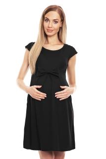 7b66ea8d90 PB tehotenské šaty s mašľou 0129 čierne empty