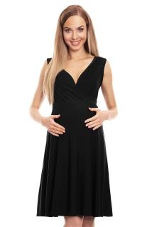 b6d36254e391 PB tehotenské šaty na dojčenie bez rukávov čierne empty
