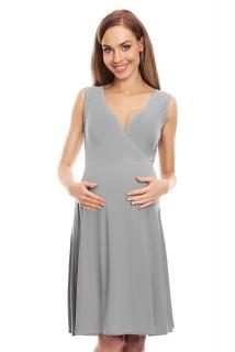 b786ce909eab PB tehotenské šaty na dojčenie bez rukávov sivé empty