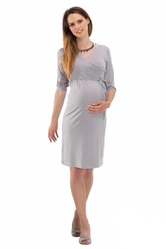 Bensini tehotenské šaty BLANKA sivé