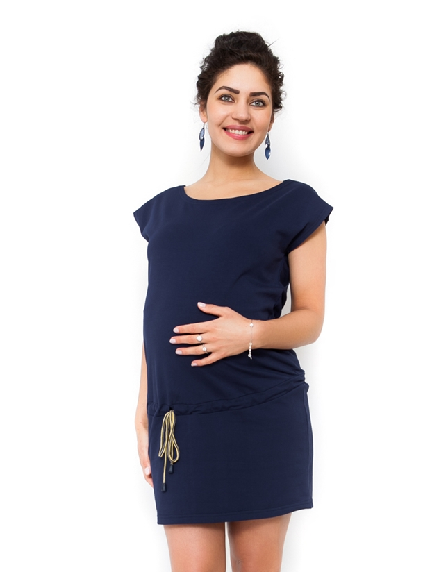 Moromu tehotenské šaty Judita tmavomodrá